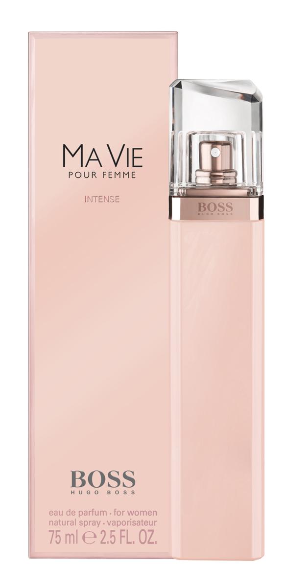 Hugo Boss Ma Vie Intense Парфюмерная вода женская75 мл0730870171219Изысканный цветочный аромат является продолжением оригинального Boss Ma Vie, изданного в 2014, но более насыщенной, яркой, соблазнительной версией. Главная роль в сексуальном и притягательном букете отведена экзотическому благоуханию кактусового цвета. Его неожиданные, пикантные, сексуальные и свежие аккорды великолепно сочетаются с чувственной нежностью розового бутона и глубокой, интенсивной кедровой базой, создавая виртуозный баланс женственности и силы, независимости и хрупкости, простоты и роскоши. Элегантный и утонченный Boss Intense Ma Vie– прекрасный выбор для солнечного лета или теплой весны.Верхняя нота: Цветок кактуса.Средняя нота: Бутон розы.Шлейф: Кедр.Роза - королева цветов, для благородства и женственности.Дневной и вечерний аромат.