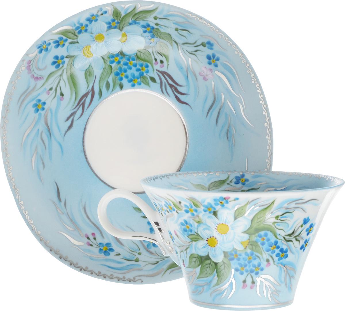 Чайная пара Фарфор Вербилок Дыхание Наяды, 2 предмета2709000ПЧайная пара Фарфор Вербилок Дыхание Наяды состоит из чашки и блюдца, изготовленных из высококачественного фарфора. Изделия оформлены в классическом стиле и имеют изысканный внешний вид.Такой набор прекрасно дополнит сервировку стола к чаепитию и подчеркнет ваш безупречный вкус.Чайная пара Фарфор Вербилок Дыхание Наяды - это прекрасный подарок к любому случаю. Объем чашки: 200 мл.Диаметр чашки (по верхнему краю): 10 см.Высота чашки: 6 см.Размер блюдца: 14 х 15 см.Высота блюдца: 2,5 см.