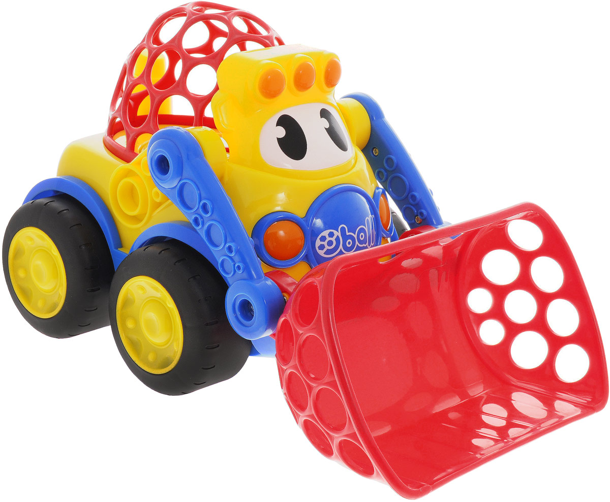 Oball Развивающая машинка-игрушка Погрузчик большую мягкую игрушку собаку лежа в москве