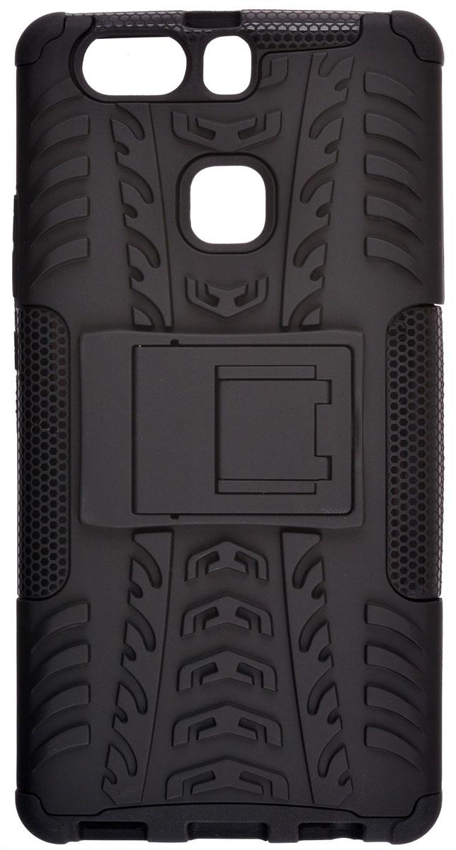 Skinbox Defender case чехол-накладка для Huawei P9 Plus, Black чехлы для телефонов skinbox huawei honor 6 plus skinbox lux