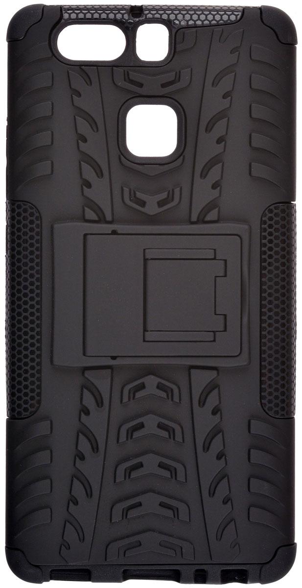 Skinbox Defender case чехол-накладка для Huawei P9, Black skinbox defender case чехол накладка для leeco le 2 pro black