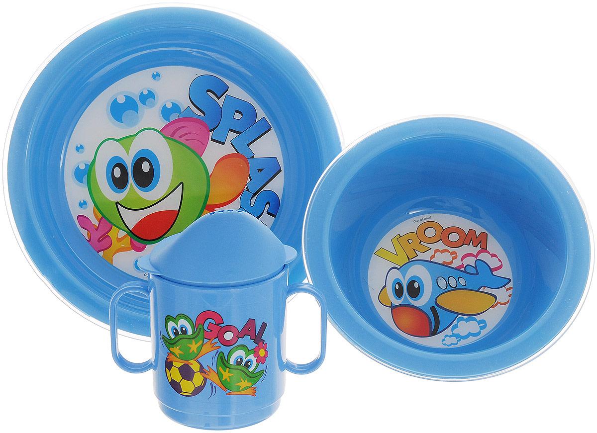 """Набор детской посуды Cosmoplast """"Baby Tris Set"""" состоит из суповой тарелки, обеденной тарелки и чашки-поильника. Все предметы набора изготовлены из высококачественного пищевого пластика по специальной технологии, которая гарантирует простоту ухода, прочность и безопасность изделий для детей. Предметы сервиза оформлены красочными рисунками, которые обязательно понравятся вашему малышу.  Объем кружки: 250 мл.  Не содержит бисфенол А."""