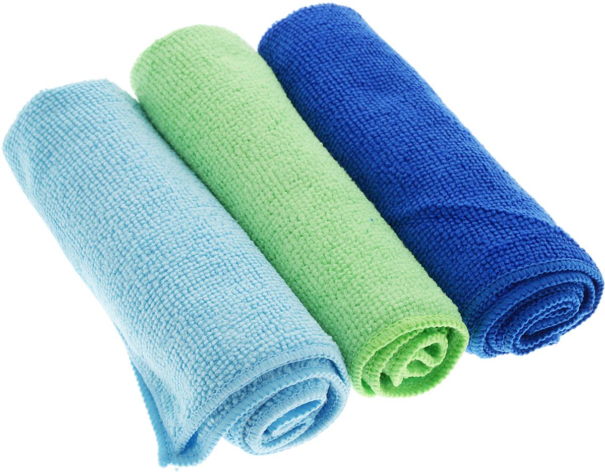 Набор салфеток для уборки Sol, из микрофибры, цвет: синий, салатовый, голубой, 30 x 30 см, 3 шт10035_синий, салатовый, голубойНабор салфеток Sol выполнен из микрофибры. Микрофибра - это ткань из тонких микроволокон, которая эффективно очищает поверхности благодаря капиллярному эффектумежду ними. Такая салфетка может использоватьсякак для сухой, так и для влажной уборки. Деликатно очищает любые поверхности, не оставляя следов и разводов. Идеально подходит для протирки полированной мебели. Сохраняетсвои свойства после стирки.Размер салфетки: 30 х 30 см.