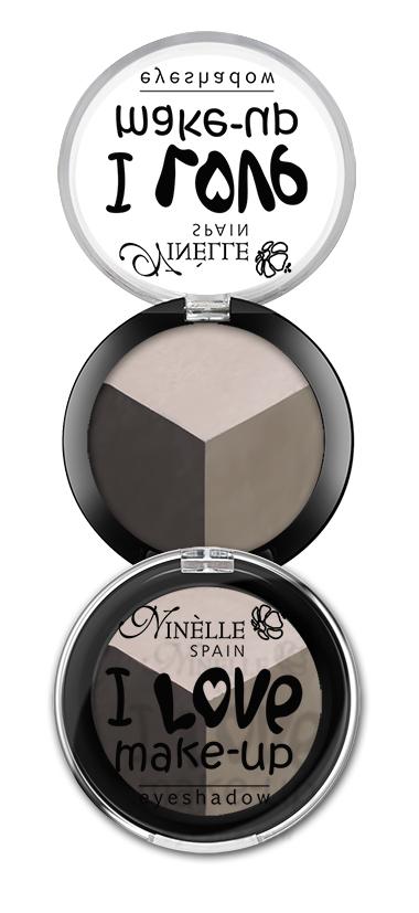 Ninelle Тени для век I Love Make-Up №603, 2.5г1162N10872Палитры из трех роскошных оттенков в мягкой пудровой текстуре, каждая из которых базируется на нейтральных тонах. Атласные и переливающиеся оттенки открывают безграничные варианты для передачи цвета.Возможность выполнить натуральный, насыщенный или вечерний макияж всего лишь с одной палитрой.