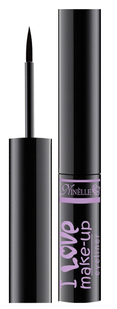 Ninelle Подводка для глаз I Love Make-Up, 4г29101318032Новая формула для абсолютно четкой, ровной и устойчивой линии с насыщенным цветом.Форма фетрового аппликатора специально разработана с учетом специфики нанесения подводки – для изящной или более интенсивной линии.