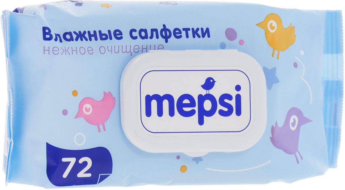 Mepsi Детские влажные салфетки, 72 шт салфетки aura влажные салфетки детские ultra comfort 120 шт