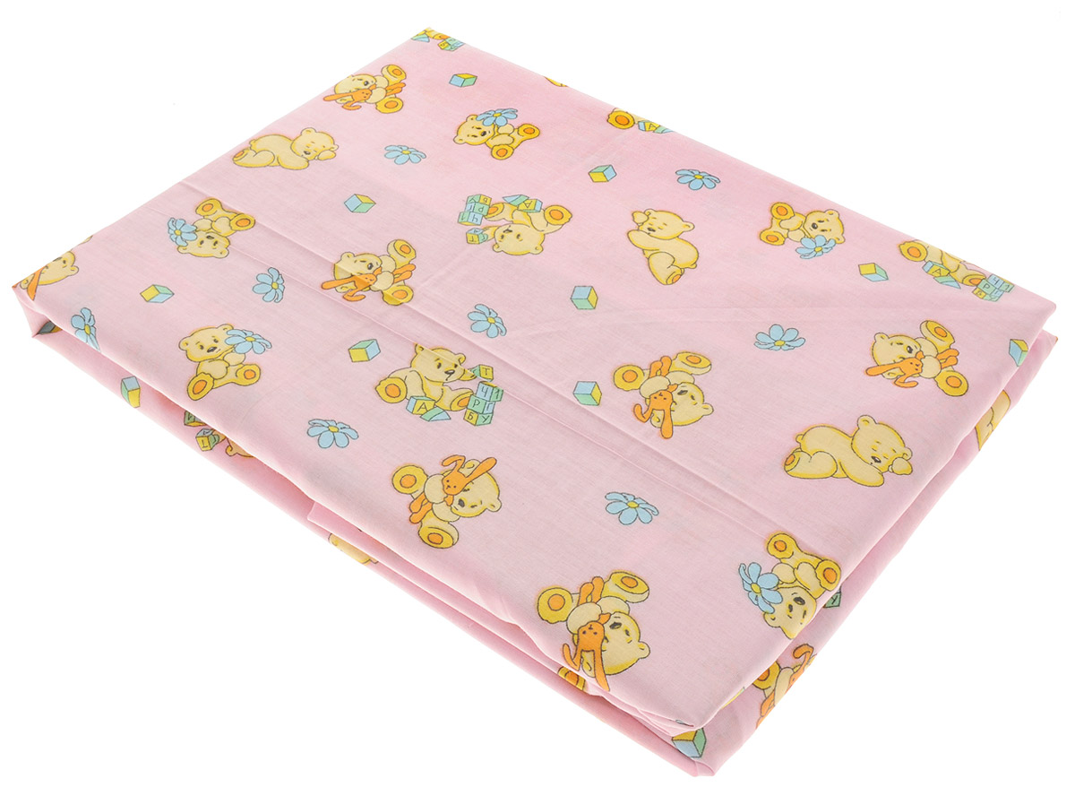 Простыня на резинке детская Primavelle, цвет: розовый, 60 см х 120 см х 20 см покрывало на кресло les gobelins mexique 50 х 120 см
