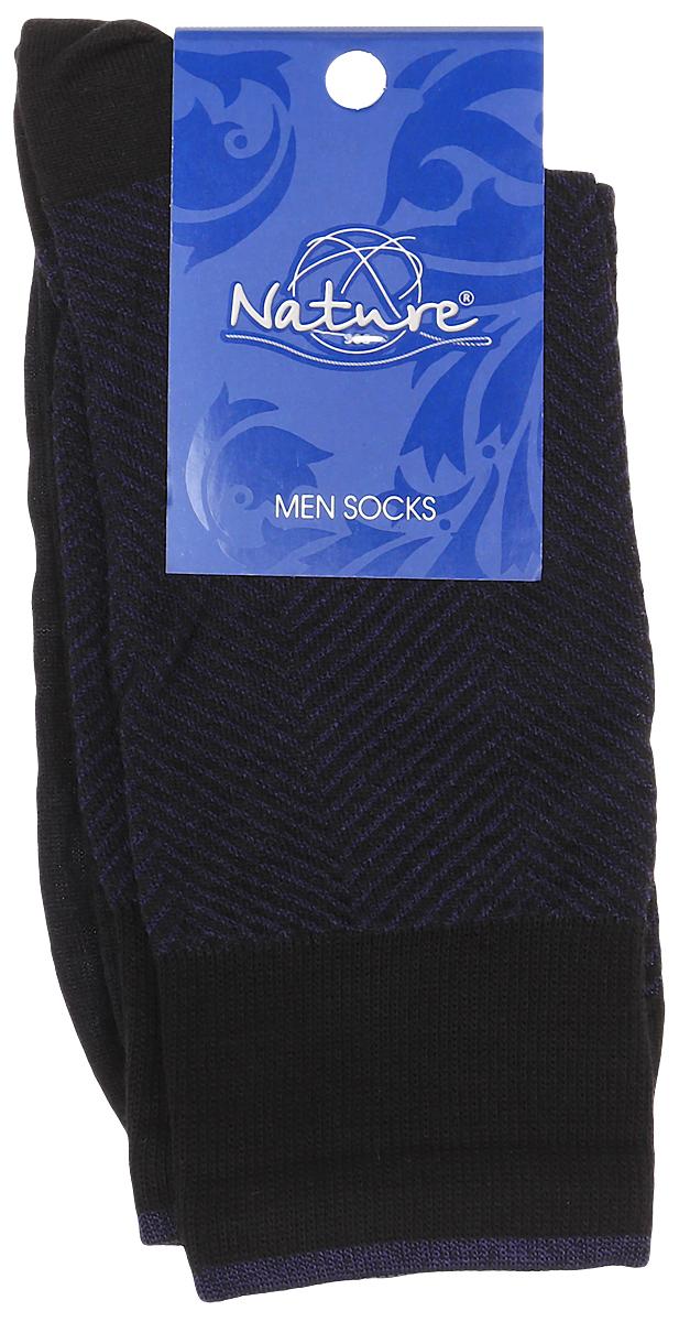 Носки мужские Nature, цвет: синий. 301. Размер 25-27 носки мужские nature цвет темно синий серый 411 размер 25 27