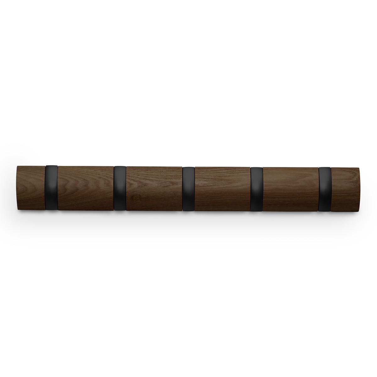 Вешалка Umbra Flip, настенная, цвет: бежевый, 5 крючков318850-048Стильная и прочная вешалка интересной формы. Имеет 5 откидных алюминиевых крючков. Когда они не используются, то складываются внутрь, превращая конструкцию в абсолютно гладкую поверхность.Идеально для маленьких прихожих и ограниченных пространств.Каждый крючок выдерживает вес до 2,3 кг.