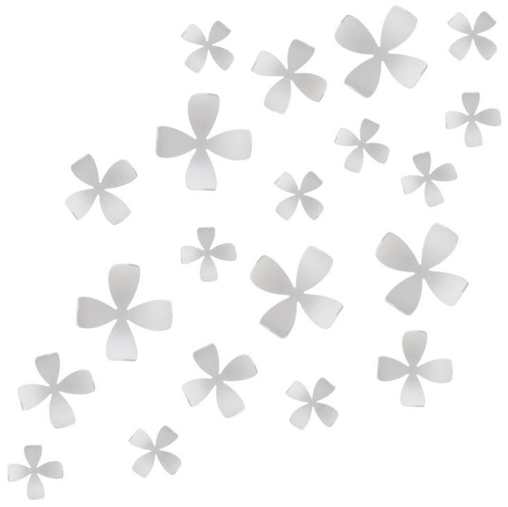 Декоративное украшение Umbra Wallflower, настенное, цвет: белый, 25 шт470040-660Пять минут - ровно столько понадобится, чтобы добавить изюминку интерьеру! Декоративное настенное украшение Umbra Wallflower выполнено из полипропилена в виде цветов.Они идеально подойдут к любому интерьеру, оживят и придадут шарм детском, гостиной, спальне, кабинеты или офису. Их очень легко крепить к стене и можно менять комбинацию и местоположение сколько угодно раз!В комплекте набор для крепления. Альтернатива крепежным гвоздикам - липучка Blue tag, которая прилагается к комплекту. В наборе 25 элементов.Пять разных размеров - от самого маленького 7 х 7 х 3 см, до самого большого 11 х 11 х 6 см.
