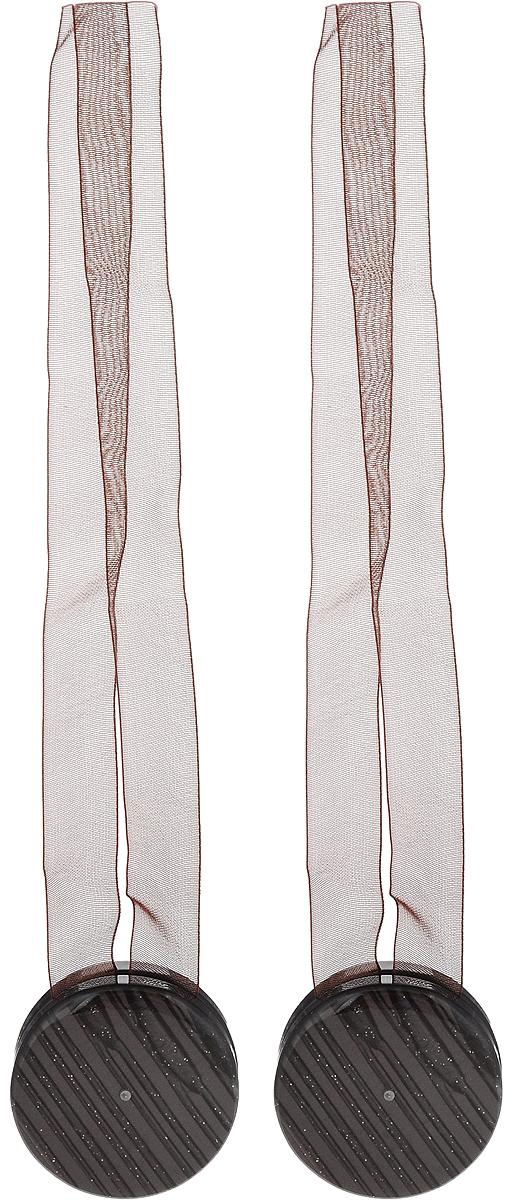Подхват для штор TexRepublic Ajur. Lenta, на магнитах, цвет: темно-коричневый, диаметр 4 см, 2 шт. 7901079010Изящный подхват для штор TexRepublic Ajur. Lenta, выполненный из пластика и текстиля, можно использовать как держатель для штор или для формирования декоративных складок на ткани. С его помощью можно зафиксировать шторы или скрепить их, придать им требуемое положение, сделать симметричные складки. Благодаря магнитам подхват легко надевается и снимается.Подхват для штор является универсальным изделием, которое превосходно подойдет для любых видов штор. Подхваты придадут шторам восхитительный, стильный внешний вид и добавят уют в интерьер помещения.Длина подхвата: 36 см.Диаметр: 4 см.Количество: 2 шт.