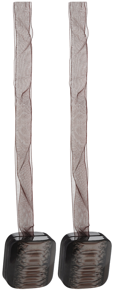 Подхват для штор TexRepublic Ajur. Lenta, на магнитах, цвет: темно-коричневый, 2 шт. 7901679016Изящный подхват для штор TexRepublic Ajur. Lenta, выполненный из пластика и текстиля, можно использовать как держатель для штор или для формирования декоративных складок на ткани. С его помощью можно зафиксировать шторы или скрепить их, придать им требуемое положение, сделать симметричные складки. Благодаря магнитам подхват легко надевается и снимается.Подхват для штор является универсальным изделием, которое превосходно подойдет для любых видов штор. Подхваты придадут шторам восхитительный, стильный внешний вид и добавят уют в интерьер помещения.Длина подхвата: 39 см.Количество: 2 шт.