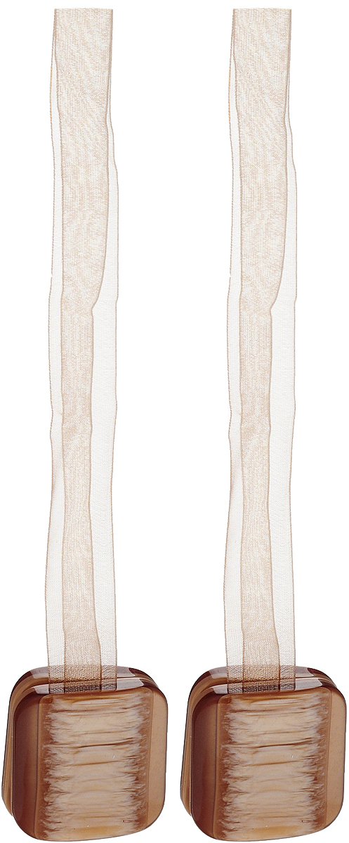 Подхват для штор TexRepublic Ajur. Lenta, на магнитах, цвет: бежевый, 2 шт. 7901579015Изящный подхват для штор TexRepublic Ajur. Lenta, выполненный из пластика и текстиля, можно использовать как держатель для штор или для формирования декоративных складок на ткани. С его помощью можно зафиксировать шторы или скрепить их, придать им требуемое положение, сделать симметричные складки. Благодаря магнитам подхват легко надевается и снимается. Подхват для штор является универсальным изделием, которое превосходно подойдет для любых видов штор. Подхваты придадут шторам восхитительный,стильный внешний вид и добавят уют в интерьер помещения. Длина подхвата: 36 см. Количество: 2 шт.