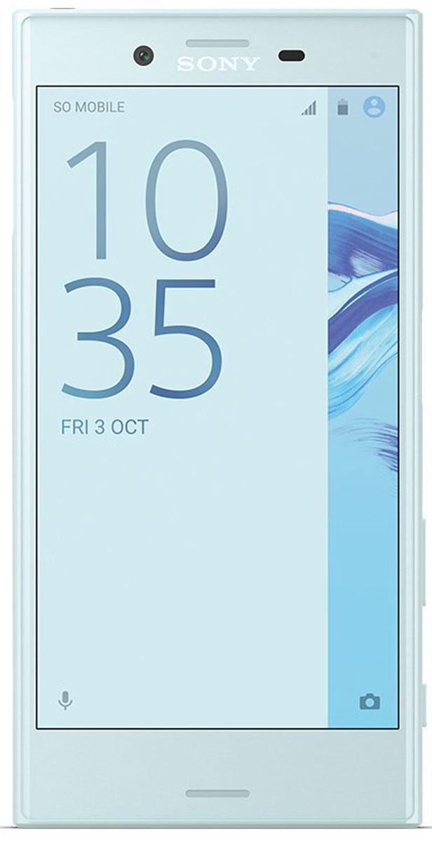 Sony Xperia X Compact, Mist Blue7311271573975Компактный смартфон с камерой, способной запечатлеть все моменты жизни на четких снимках.Для Xperia X Compact движение не помеха. Благодаря технологии взаимодействия трех сенсоров, вы сможете четко снять движущиеся объекты даже при тусклом освещении. Вы никогда не упустите удачный кадр, поскольку смартфон имеет компактный размер 4,6 дюйма, и его удобно носить с собой.Хорошая фотография — та, которую не нужно обрабатывать. Благодаря сенсору RGBC-IR в Xperia X Compact изображение на снимке будет таким, как вы его видите своими глазами. Цвета будут всегда яркими и реалистичными, а фильтры больше не понадобятся.Камера на 23 Мпикс запечатлеет даже самые мимолетные мгновения. Это самая быстрая камера от Sony, которая переходит из режима ожидания в режим съемки за 0,6 секунды. Быстрый запуск, специальная кнопка съемки и быстрая обработка изображений позволят вам запечатлеть самые быстротечные и неожиданные моменты жизни.В Xperia X Compact сочетаются удобство, комфорт и стиль. Благодаря плавным закругленным краям смартфон отлично лежит в руке, а его компактный размер удобен для использования одной рукой. Уникальный дизайн Xperia X Compact отражен во всех элементах практически глянцевого корпуса.Xperia X Compact умнеет с каждым днем: он изучает ваши привычки и адаптируется под особенности использования.Частая зарядка негативно влияет на аккумуляторы большинства смартфонов. В Xperia X Compact используется интеллектуальная технология, которая следит, чтобы срок службы аккумулятора не сокращался. Она адаптируется к тому, как вы заряжаете смартфон, и в результате аккумулятор служит вдвое дольше.Благодаря поддержке звука высокого разрешения и технологии цифрового подавления шума никакие посторонние звуки не помешают вам наслаждаться любимой музыкой.HD-дисплей, созданный на основе телевизионных технологий Sony BRAVIA, позволит рассмотреть все детали.Xperia X Compact автоматически распознает ваши привычки в использовании смартфона и отоб