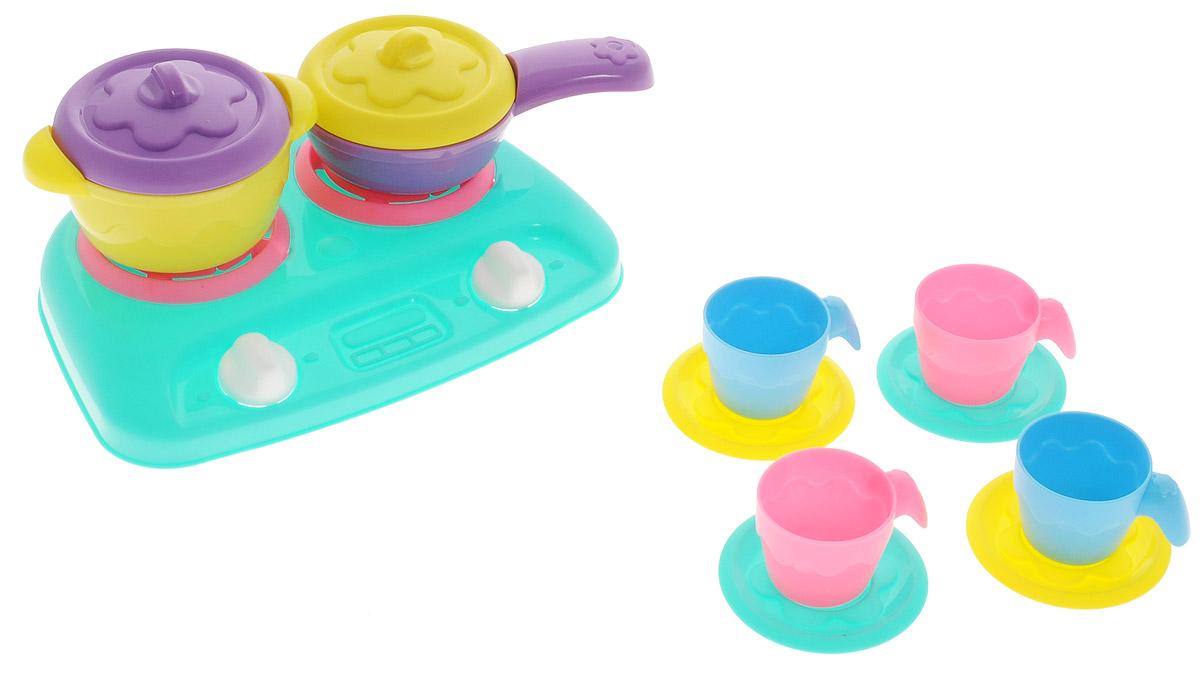 Нордпласт Игрушечный набор посуды Шкода цвет плиты бирюзовый ролевые игры шкода набор 2