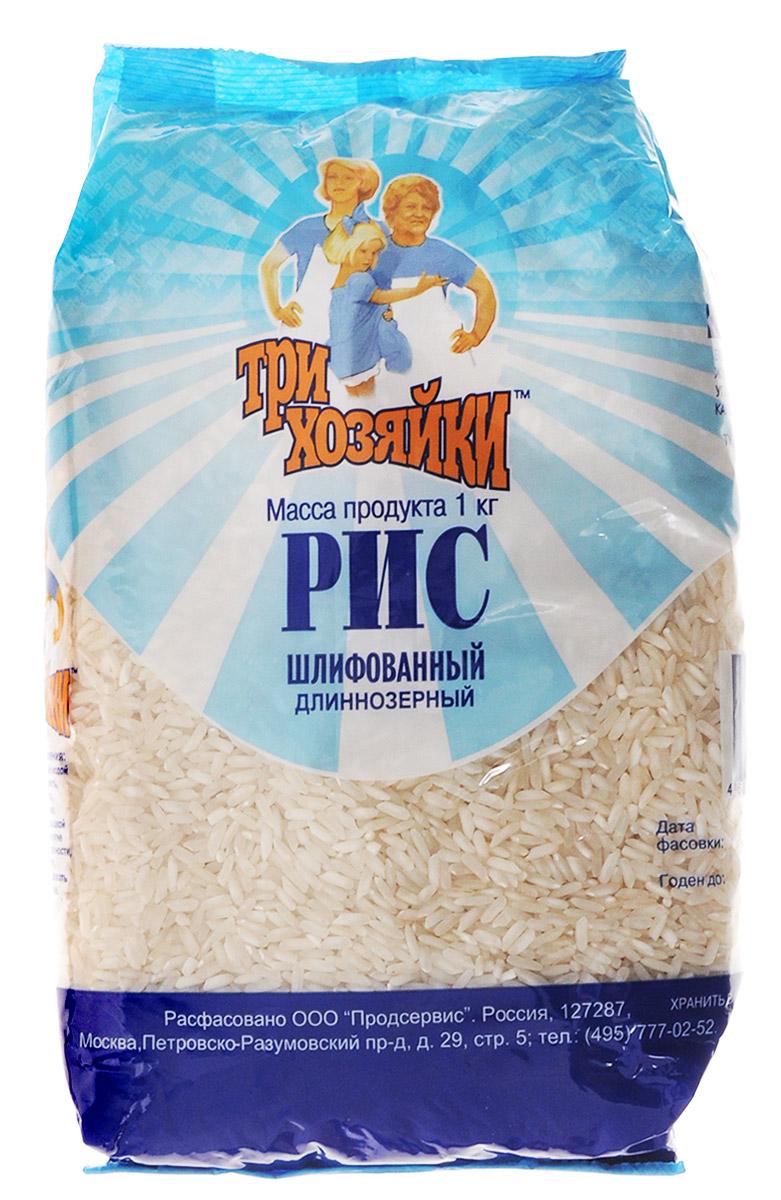 Три хозяйки рис длиннозерный шлифованный, 1 кг542Изготовлено из высококачественного сырьяЛайфхаки по варке круп и пасты. Статья OZON Гид