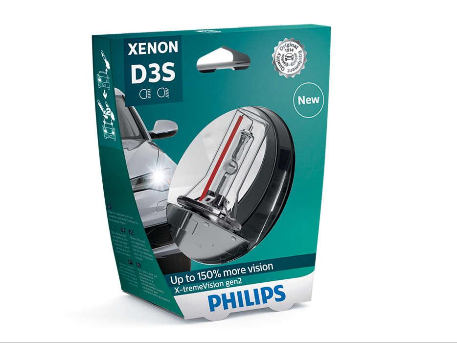 Лампа автомобильная ксеноновая Philips X-tremeVision gen2, цоколь D3S, 35 Вт. 42403 XV2S142403 XV2S1X-tremeVision gen2 — последняя разработка в области ксеноновых ламп. Световое излучение этой лампы доведено до предела, и она обеспечивает самый мощный луч. Это позволяет получить исключительные характеристики освещения и уникальную организацию света для оптимального комфорта вождения. Оптимальные характеристики освещенияУлучшение видимости до 150%*Максимальная безопасность и видимостьПредназначены для взыскательных водителей