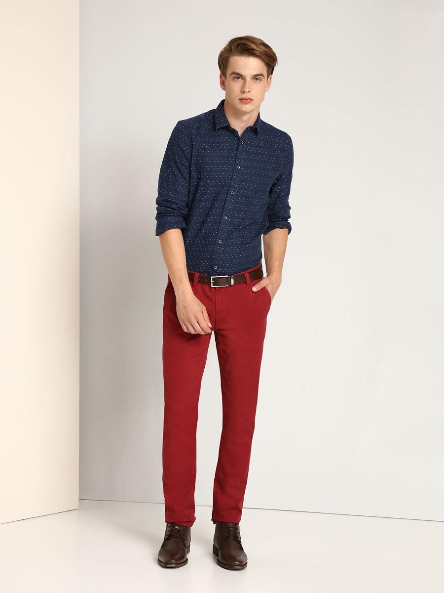 Рубашка мужская Top Secret, цвет: темно-синий. SKL2149GR. Размер 44/45 (52) рубашка top secret цвет темно синий
