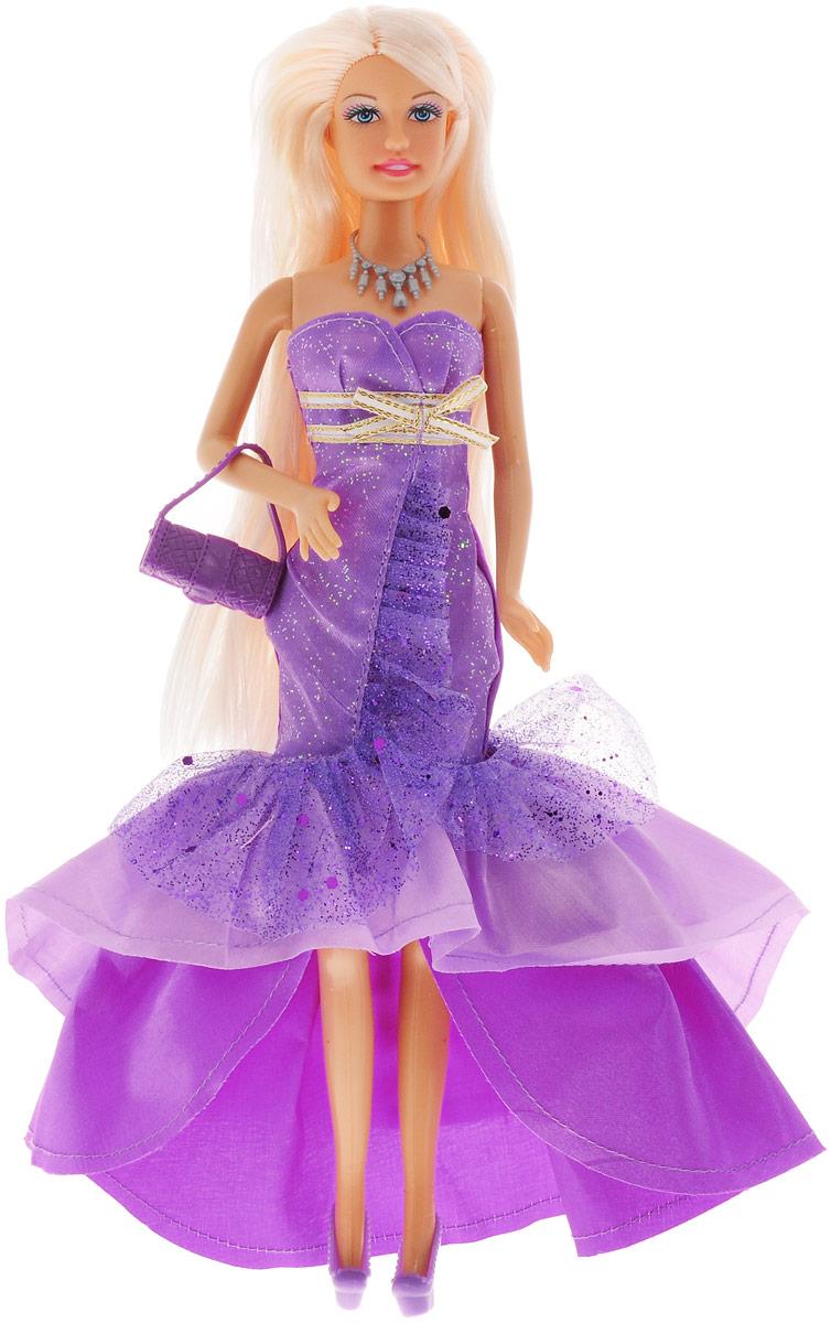 Defa Кукла Lucy в вечернем платье цвет сиреневый куклы и одежда для кукол defa lucy кукла с аксессуарами 26 см