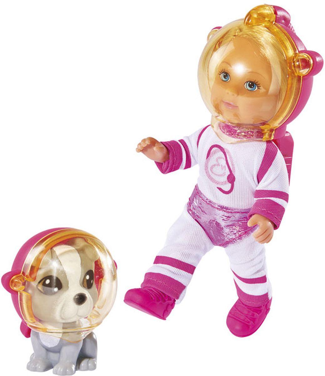 Simba Мини-кукла Еви с собачкой Космонавты simba игровой набор с мини куклой evi love fairy carriage