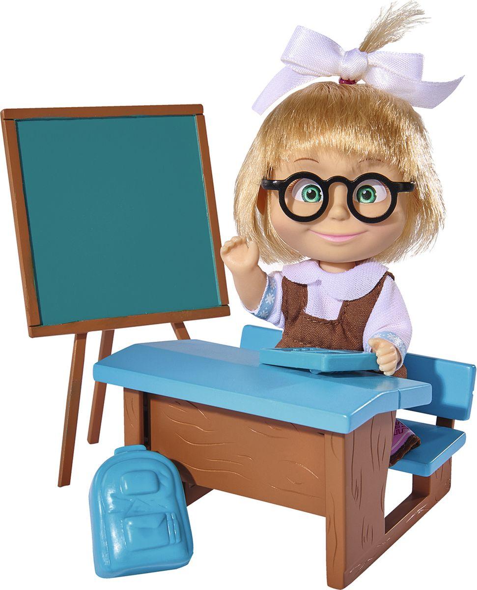 Simba Кукла Маша в школьной форме с аксессуарами, 12 см simba мини кукла маша в красном сарафане