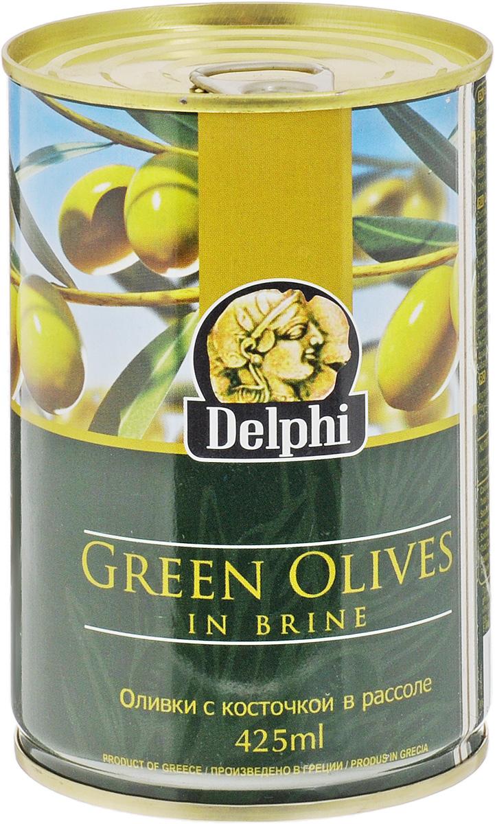 Delphi Оливки с косточкой в рассоле, 425 мл delphi оливки с косточкой в рассоле super mammouth 91 100 820 г