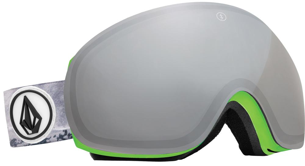 Очки горнолыжные Electric EG3, оправа: Volcom Co-Lab, линза: Bronze/Silver Chrome очки electric knoxville tort bronze