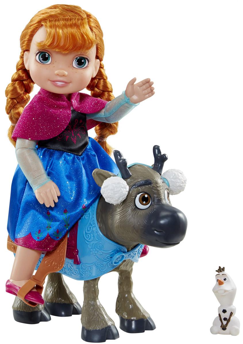 Disney Frozen Игровой набор с мини-куклой Анна и Свен disney frozen кукла анна