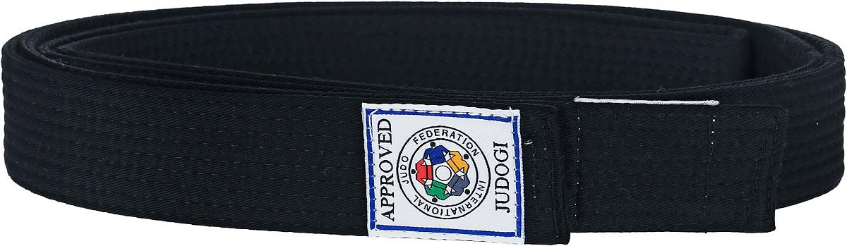 Пояс для дзюдо Green Hill, цвет: черный. JBI-10338. Размер 240JBI-10338Пояс для дзюдо Green Hill выполнен из плотного хлопкового материала с многорядной прострочкой. Модель дополнена текстильной нашивкой с названием бренда.