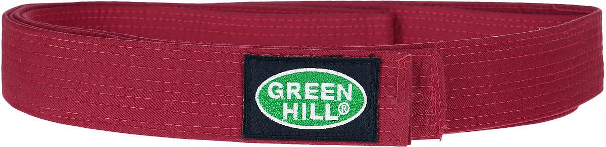 Пояс для карате Green Hill, цвет: красный. KBO-1014. Размер 260KBO-1014Пояс для карате Green Hill - универсальный пояс для кимоно. Пояс выполнен из плотного хлопкового материала с многорядной прострочкой. Модель дополнена текстильной нашивкой с названием бренда.