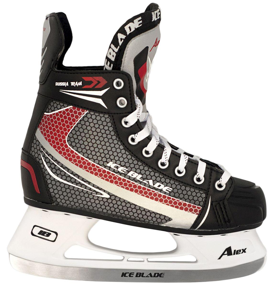 Коньки хоккейные Ice Blade Alex New, цвет: черный, красный, серый. УТ-00006868. Размер 47