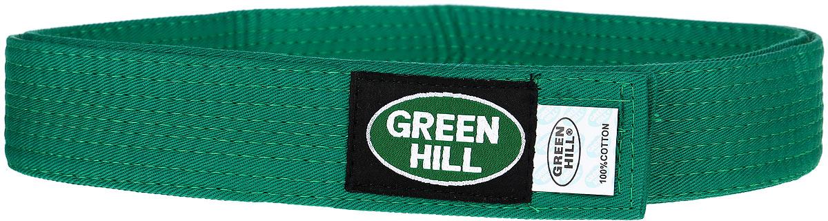 Пояс для кикбоксинга Green Hill 7-Contact, цвет: зеленый. KBB-1015. Размер 160KBB-1015Пояс для кикбоксинга Green Hill 7-Contact выполнен из плотного хлопкового материала с многорядной прострочкой. Модель дополнена текстильной нашивкой с названием бренда.