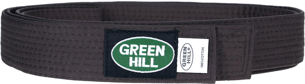 Пояс для кикбоксинга Green Hill 7-Contact, цвет: коричневый. KBB-1015. Размер 200KBB-1015Пояс для кикбоксинга Green Hill 7-Contact выполнен из плотного хлопкового материала с многорядной прострочкой. Модель дополнена текстильной нашивкой с названием бренда.