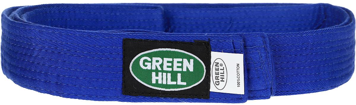 Пояс для кикбоксинга Green Hill 7-Contact, цвет: синий. KBB-1015. Размер 200KBB-1015Пояс для кикбоксинга Green Hill 7-Contact выполнен из плотного хлопкового материала с многорядной прострочкой. Модель дополнена текстильной нашивкой с названием бренда.