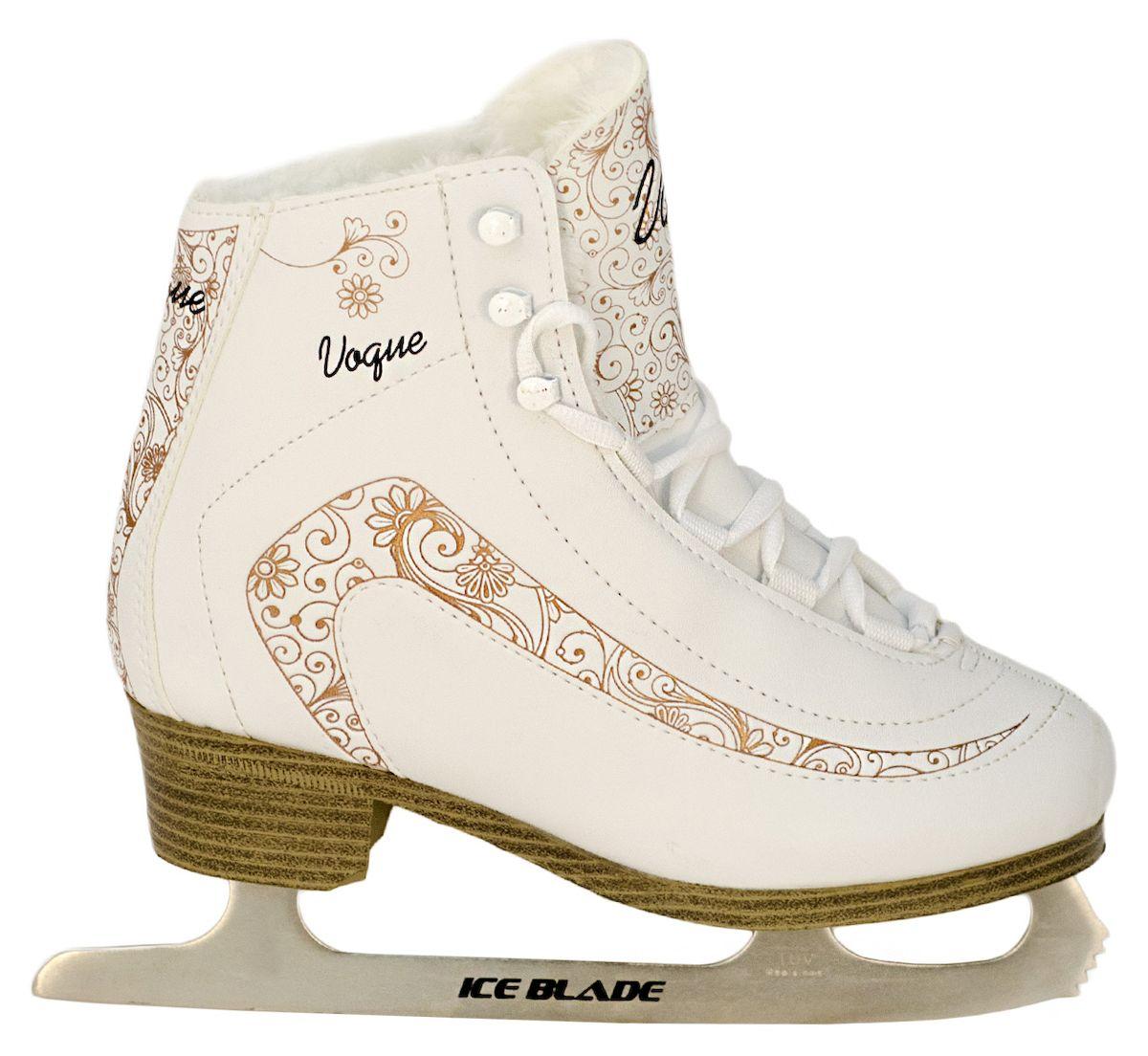 цены Коньки фигурные Ice Blade Vogue, цвет: белый, золотой. УТ-00006871. Размер 32