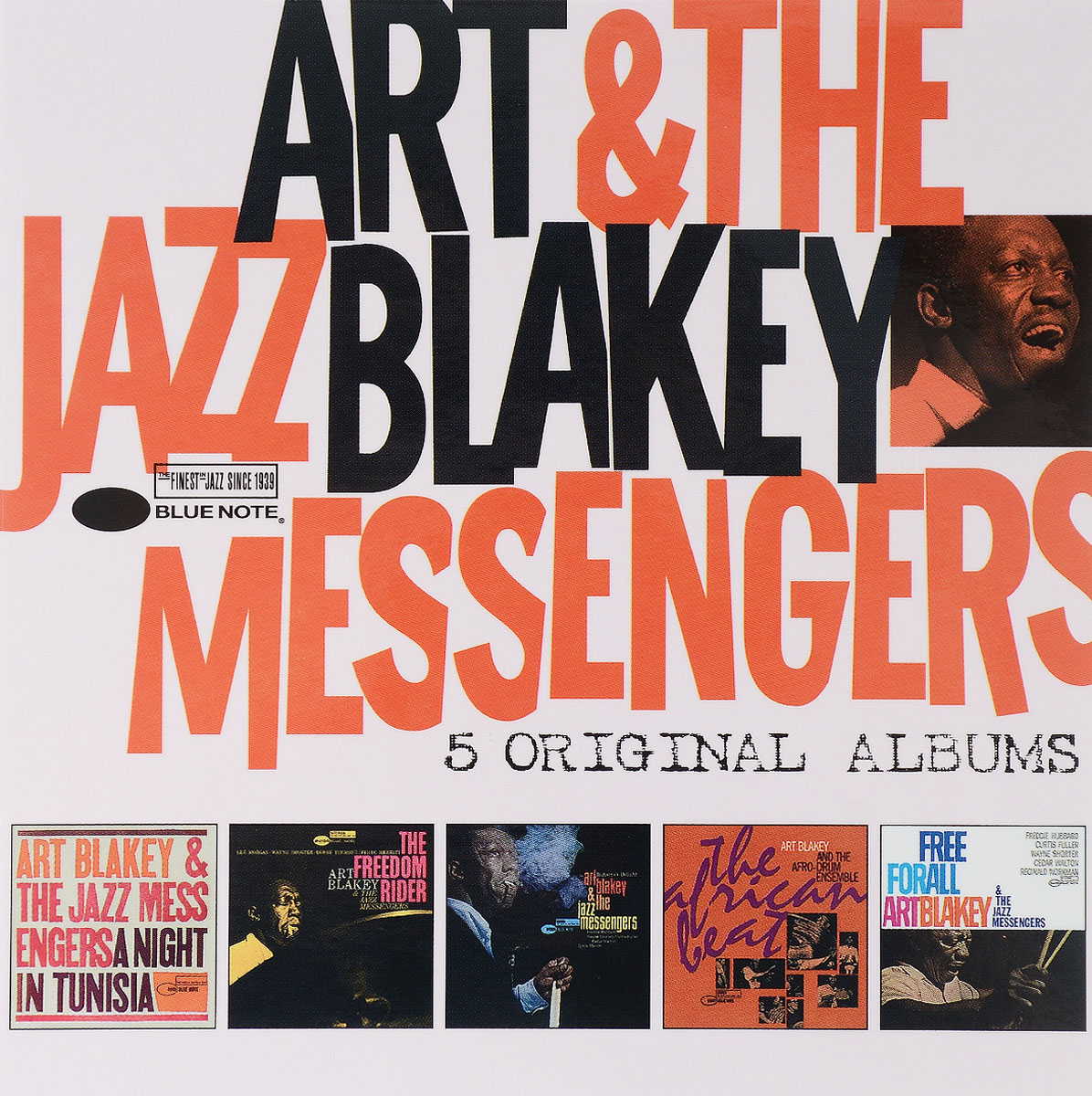 Арт Блэйки,The Jazz Messengers,The Afro-Drum Ensemble,The Jazz Messengers Art Blakey & The Jazz Messengers. 5 Original Albums (5 CD) the jazz cafe 3 cd