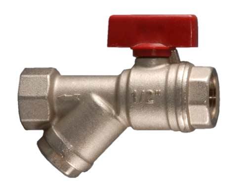 Кран шаровой Fornara, с фильтром, 1/2126D-D-ITROКран Fornara применяется для водоснабжения, отопления и систем сжатого воздуха. Изделие оснащено фильтром.Диапазон рабочих температур: от +5°C до +95°C.Рабочее давление: 10 бар.Корпус крана покрыт никелем и хромирован гальваническим способом.Корпус обрабатывается специальным способом.