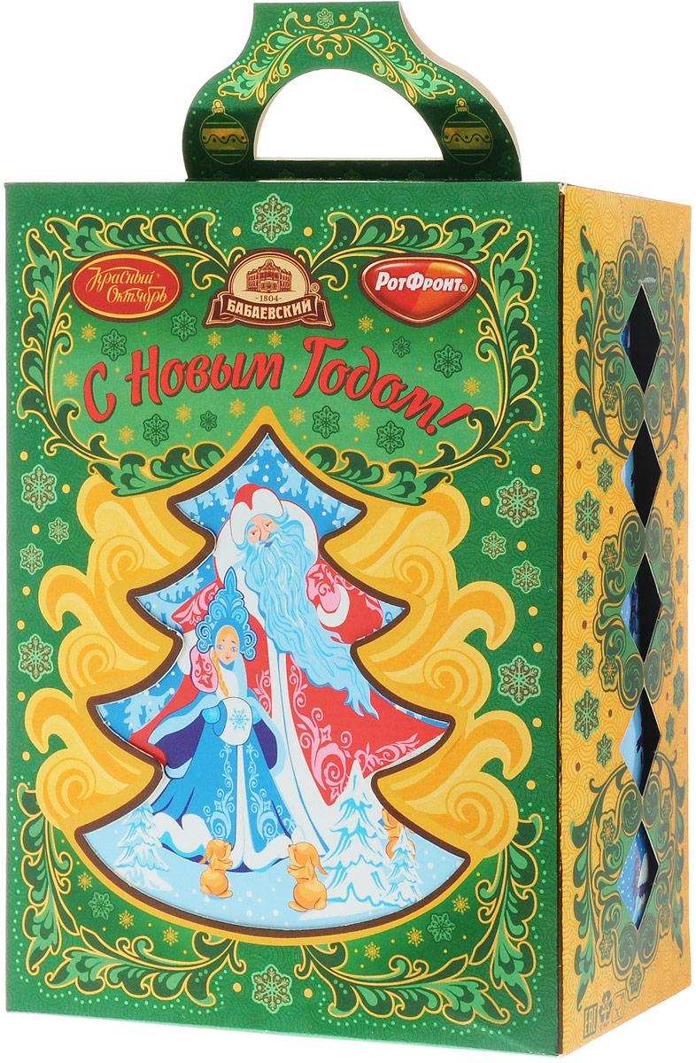 Рот-Фронт Новогодний подарок Елочка - зеленая иголочка, 403 гРФ17422Украсьте новогодний стол праздничной Елочкой. Эта крошка не только создаст настроение, но и порадует сладкими подарками.Уважаемые клиенты! Обращаем ваше внимание на тот факт, что срок годности товара до 14 марта 2017.Состав набора: «Малиновый аромат» (2 шт)«Смородиновый аромат» (2 шт) «Клубника со сливками» (2 шт)«Малина со сливками» (2 шт) «Аленка» (1 шт)«Мятная» (1 шт)«Малютка» со вкусом мяты и вишни» (2 шт) «Кис-кис» (2 шт) «Золотой ключик» (2 шт)конфеты с шоколадной глазурью «Аланека» (1)«Красная шапочка» (1 шт) «Мишка косолапый» (1 шт) «Батончики «РОТ ФРОНТ» (1 шт) «Грильяжные» Воздушная нуга и мягкий грильяж» (1 шт) «Кара-Кум» (1 шт) «Цитрон» (1 шт) «Тоffe» Original (Тоффи Оригинальные) с начинкой (1 шт) «Коровка» Любимая» (1 шт) «Novella» (Новелла) с желе вкус Лесные ягоды» (1 шт) «Лебедушка» с начинкой «Мягкий ирис» (1 шт) «Птичье молоко» вкус Клубника со сливками» (1 шт) «Ешкина коровка» (1 шт) печенье сахарное «Аленка» вкус Любимое молоко» (1 шт) пирожное бисквитное «Аленка» (1 шт) рулет бисквитный «Аленка» вкус Сливочная карамель» (1 шт)