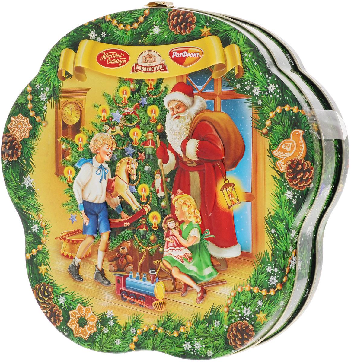 Рот-Фронт Новогодний подарок Праздничный, 1000 гРФ14503С новогодним подарком Рот-Фронт Праздничный ваш дом превратится в большую Новогоднюю сладкую сказку.Набор поставляется в красочной новогодней упаковке.Противопоказано при индивидуальной непереносимости белка молока и/или яичного белка.Уважаемые клиенты! Обращаем ваше внимание на тот факт, что срок годности товара до 26 апреля 2017.Состав набора:«Мечта» (3 шт) «Фея» (3 шт) «Дюшес» (2 шт) «Барбарис» (2 шт) «Мисс Ягодка со сливками» (3 шт) «Лимончики» (3 шт) «Гусиные лапки» (3шт) «Москвичка» (4 шт) «Бабаевская Белочка» (2 шт) «Петушок - золотой гребешок» (2 шт) «Маска» (2 шт) «Грильяж в шоколаде» (2 шт) «Красная шапочка» (1 шт) «Мишка косолапый» (3шт) «Коровка» вкус Топленое молоко (3 шт) «Огни Москвы» (2 шт) «Коровка» 30% молока (2 шт),«Цитрон» (2 шт)«Киви» (2 шт) «Батончики «РОТ ФРОНТ» (2 шт)«Славянский простор» (2 шт) «Трюфели» (2 шт) «Вафельные конфеты «Коровка» вкус Шоколад» (3 шт) «Вафельные конфеты «Коровка» Молочная» (3 шт) «Вафельные конфеты «Аленка» с фундуком» (2 шт) «Нуга» «Аленка» пряничная сказка» (3 шт) шоколад молочный «Аленка» с разноцветным драже (1 шт) шоколад «Аленка» (1 шт) вафли с начинкой «Маринка» (1 шт)