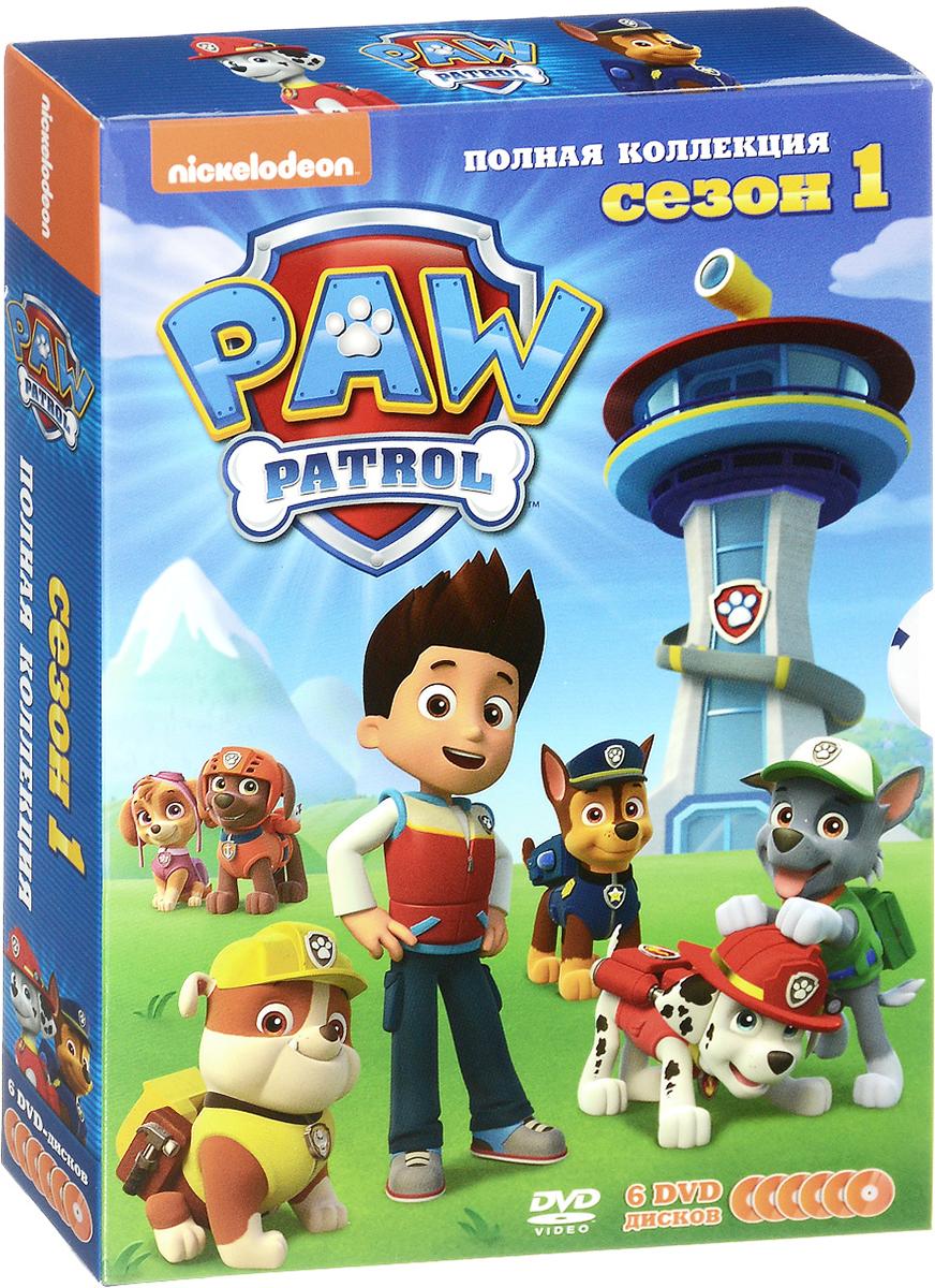 Щенячий патруль: Сезон 1: Полная коллекция (6 DVD) spin master большой автомобиль спасателей погрузчик рокки щенячий патруль