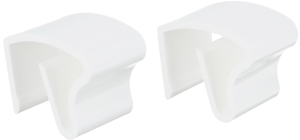 """Крепления """"Эскар"""" выполнены из высококачественного  пластика. Применяются для закрепления жалюзи на  открывающуюся створку к пластиковым и алюминиевым  окнам. Крепления оснащены противоскользящей  силиконовой прокладкой.  Комплектация: 2 шт.  Размер крепления: 2 х 2,2 х 3,2 см."""