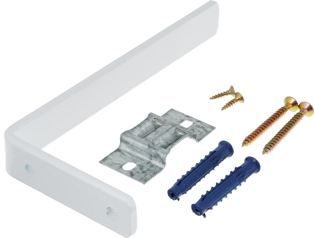 Держатель настенный Эскар, для потолочной шины, с креплением, длина 15 см20715Держатель Эскар выполнен из высококачественного металла. Держатель крепиться к стене при помощи пластинки и шурупов (входят в комплект).Такой держатель позволит надежно зафиксировать потолочную шину. Длина держателя: 15 см.