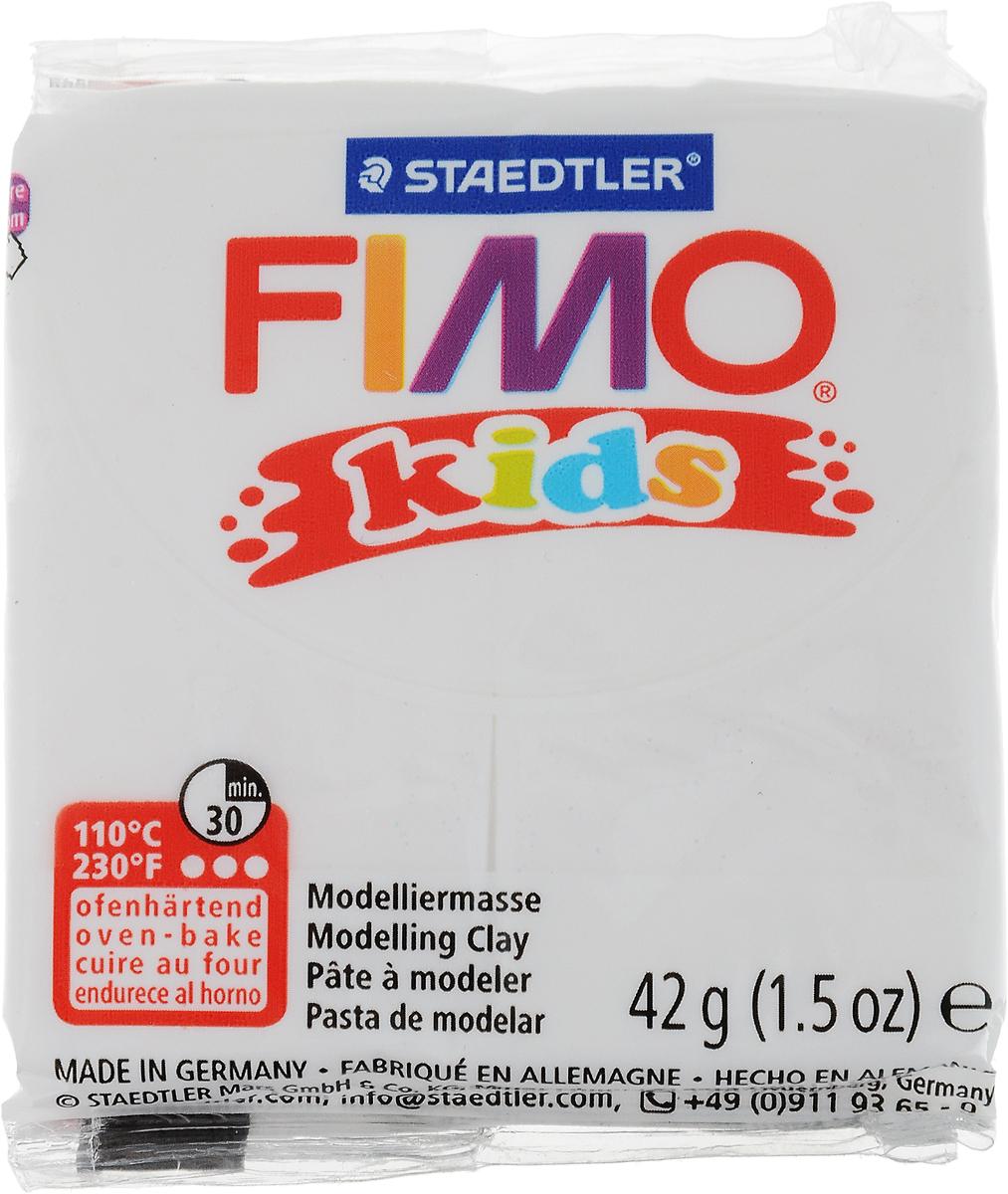 FIMO kids полимерная глина для детей, уп. 42 гр. цвет: блестящий белый. 8030-052