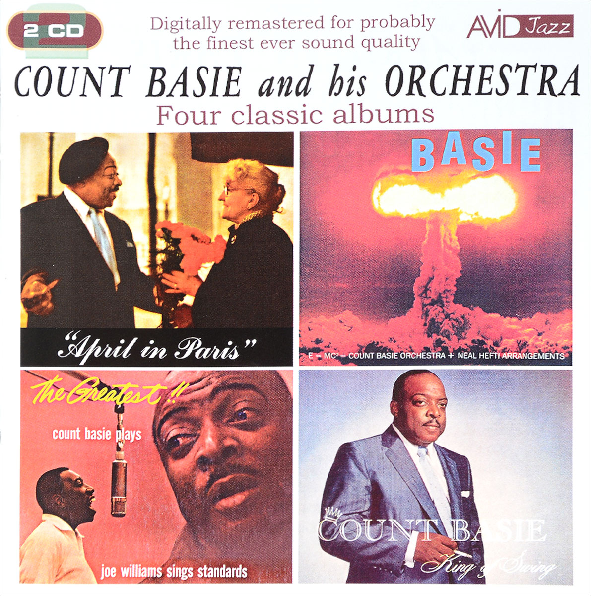 The Count Basie Orchestra,Каунт Бэйси Avid Jazz. Count Basie And His Orchestra. Four Classic Albums (2 CD) каунт бэйси count basie april in paris lp