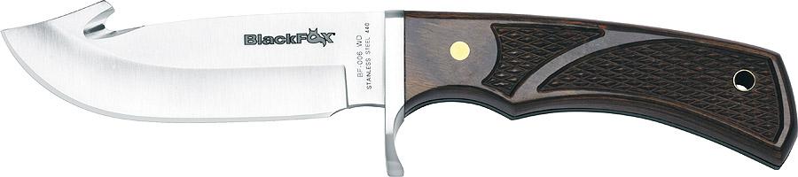 Нож-крюк Fox Black Fox Guthook, цвет: коричневый, длина клинка 10,5 см. OF/BF-006WDOF/BF-006WDНож модели Black Fox Guthook– это то, что вам необходимо. Он долго вам послужит – ведь его лезвие изготовлено из нержавеющей стали, стойкой к износу и коррозии. Рукоять ножа сделана из твердой древесины, так что вам будет чрезвычайно удобно его держать. Каждому заядлому охотнику и туристу данный нож придется по вкусу.Общая длина ножа: 23,5 см.Длина клинка: 10,5 см.Толщина клинка: 4 мм.