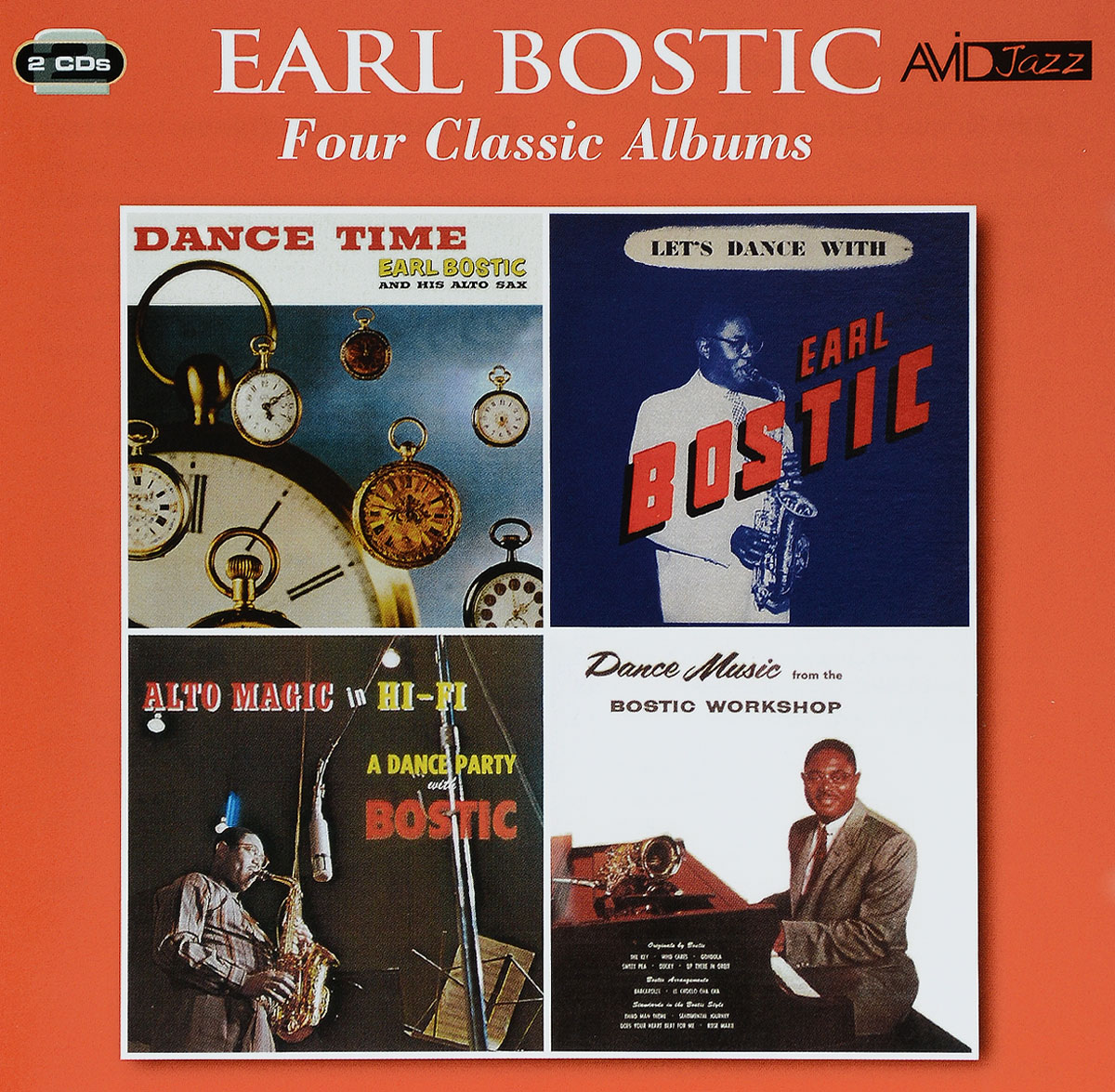 Эрл Бостик Avid Jazz. Earl Bostic. Four Classic Albums (2 CD) джордж бенсон эрл клаф george benson earl klugh collaboration