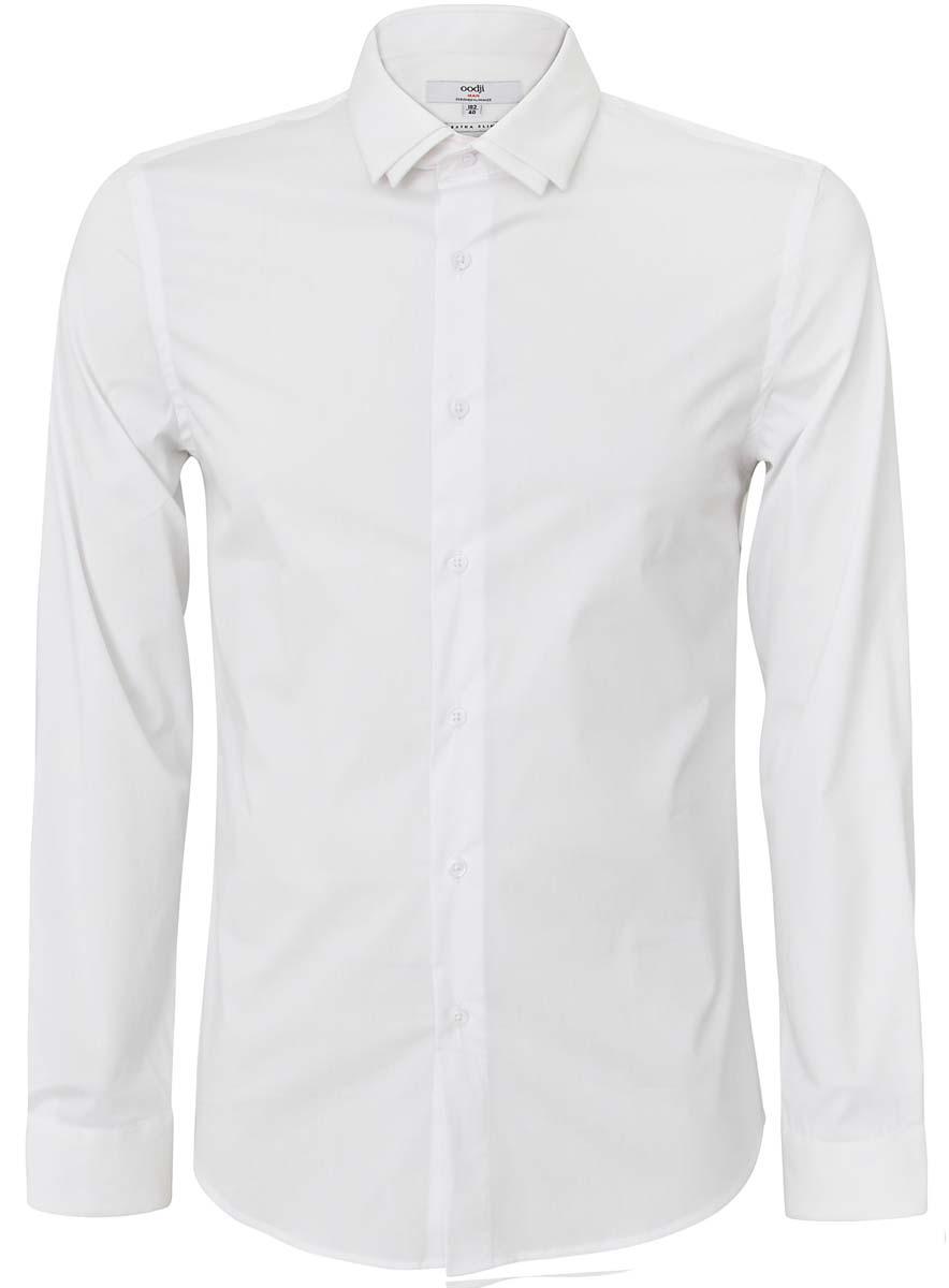 Рубашка мужская oodji, цвет: белый. 3L140104M/34146N/1000N. Размер 41 (50-182)
