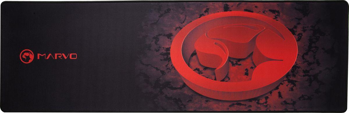 Marvo G13, Black Red коврик для мышиTRIPИгровой матерчатый коврик Marvo G13для мыши удлиненной формы, на котором вы сможете разместить не только мышь, но и клавиатуру. Большой размер аксессуара позволяет совершать активные движения.