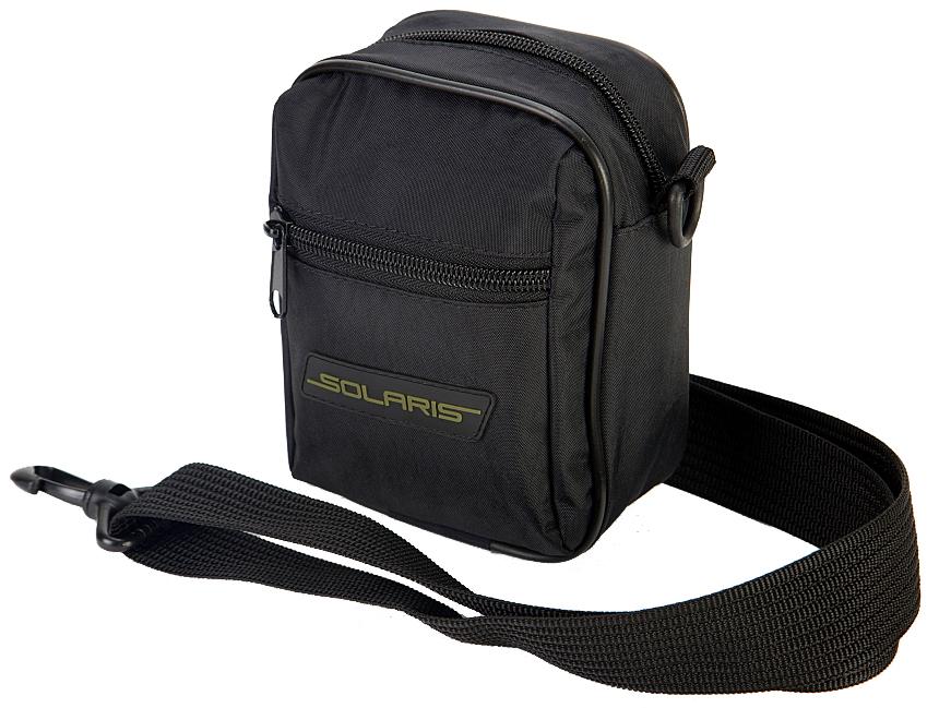 Сумка на ремень Solaris, с портупеей, цвет: черныйS5407Универсальная поясная сумка Solaris выполнена из высококачественной армированной непромокаемой ткани с плечевой лямкой-портупеей, удобна для автомобилистов, туристов и ношения в городе. Может использоваться в двух вариантах ношения: с помощью съемной плечевой лямки или одеваться на поясной ремень - на задней стороне сумки есть две петли. Сумка имеет 3 отделения: основное отделение с внутренним потайным карманом на молнии и накладной карман спереди.Размеры сумки: 13,5 х 75 х 17 см. Петли на задней стороне сумки для поясного ремня шириной до 50 мм.