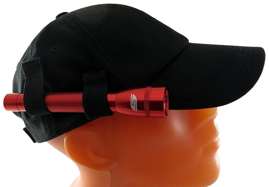 Фонарь SolarisF-5 NR, с бейсболкой, цвет: красный, черный